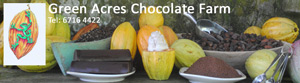 Green Acres Chocolate Farm Website Footer